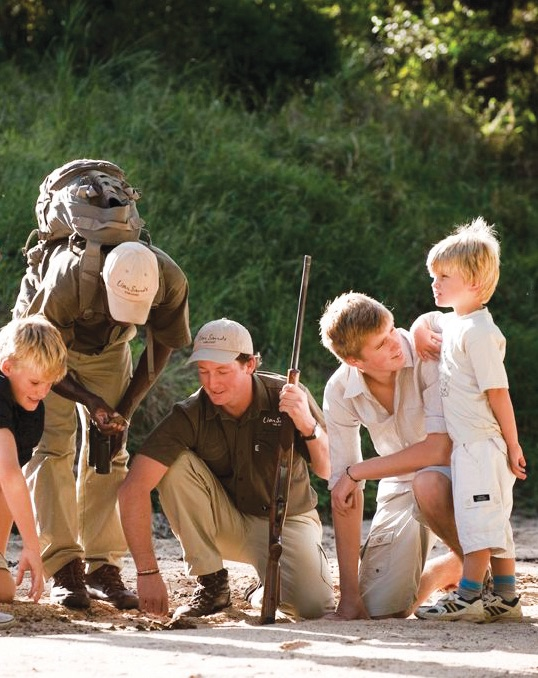 Kids on Guided Walking Safari in Greater Kruger